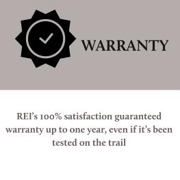 REI Flash Warranty